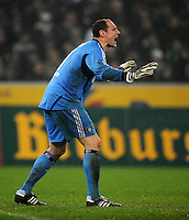FUSSBALL   1. BUNDESLIGA   SAISON 2011/2012   23. SPIELTAG Borussia Moenchengladbach - Hamburger SV         24.02.2012 Jaroslav Drobny (Hamburger SV)