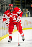 9 January 2011: Boston University Terrier forward Ryan Santana, a Sophomore from Yorba Linda, CA, in action against the University of Vermont Catamounts at Gutterson Fieldhouse in Burlington, Vermont. The Terriers defeated the Catamounts 4-2 in Hockey East play. Mandatory Credit: Ed Wolfstein Photo