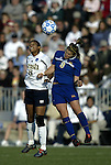 05 December 2004: Candace Chapman (8) and Kim Devine (3). Notre Dame defeated UCLA 4-3 on penalty kicks after the game ended in a 1-1 overtime tie at SAS Stadium in Cary, NC in the championship match in the 2004 NCAA Division I Women's College Cup..