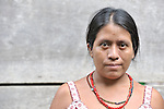 A woman in Santa Elena, in Guatemala's remote Peten region.