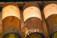 Chateau d'Yquem 1916 1917 1918 Lur Saluces, Sauternes, Bordeaux in a collection of all vintages of Bordeaux first growth bottles.  Ulriksdal Ulriksdals Wärdshus Värdshus Wardshus Vardshus Restaurant, Stockholm, Sweden, Sverige, Europe