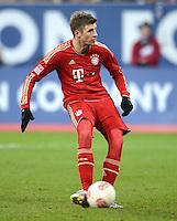 FUSSBALL   1. BUNDESLIGA  SAISON 2012/2013   16. Spieltag FC Augsburg - FC Bayern Muenchen         08.12.2012 Elfmeter Tor zum 0:1 durch Thomas Mueller (FC Bayern Muenchen)