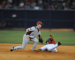 Mississippi vs. Arkansas in a college baseball game at Oxford-University Stadium in Oxford, Miss. on Friday, May 7, 2010. (AP Photo/Oxford Eagle, Bruce Newman)