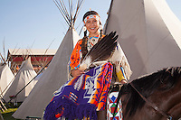 Happy Canyon Princess, member of the Confederated Tribes, The Pendleton RoundUp is the largest outdoor rodeo in the world,