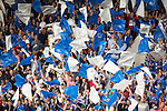 St Johnstone v FC Spartak Trnava...31.07.14  Europa League 3rd Round Qualifier<br /> Saints fans make a lot of noise<br /> Picture by Graeme Hart.<br /> Copyright Perthshire Picture Agency<br /> Tel: 01738 623350  Mobile: 07990 594431