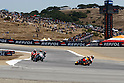 July 25, 2010 - Laguna Seca, USA -Repsol Honda team's Spanish rider, Dani Pedrosa, powers his bike during the U.S. Grand Prix held on July 25, 2010. (Photo Andrew Northcott/Nippon News)