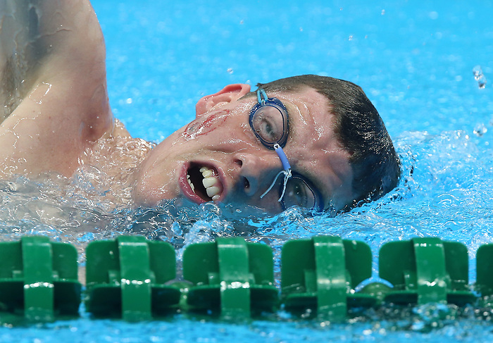 Rio de Janeiro-6/9/2016-Canadian swimmer Danial Murphy at the Olympic Aquatics Stadium prior to the Paralympic Games in Rio. Photo Scott Grant/Canadian Paralympic Committee