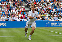 Richard Gasquet (FRA) (11) against Kai Nishikori (JPN) in the first round of the men's singles. Richard Gasquet beat Kai Nishikori 6-3 6-3..Tennis - ATP World Tour - AEGON Championships - Queen's Club - London - Day 1 - Mon 07 Jun 2010..© AMN Images - Level 1, Barry House, 20-22 Worple Road, London, SW19 4DH.Tel - +44 (0) 208 947 0100.email - mfrey@advantagemedianet.com. www.photoshelter.com/c/amnimages.