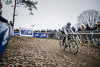 CX World Champion Wout Van Aert (BEL/Crelan-Willems) racing on a new bike (&amp; in a new team) for the first time<br /> <br /> elite men's race<br /> GP Sven Nys 2017