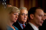 "Dec 15, 2010 - Washington, District of Columbia, U.S. -  Rep.  BARNEY FRANK (D-MA) looks on at a  press conference following the U.S. House of Representatives passing a stand-alone version of a bill to repeal the ""Don't Ask Don't Tell"" law. (Credit Image: © Pete Marovich/ZUMA Press)"