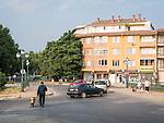Central district buildings in Kazanlak, Bulgaria
