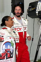 Raven-Symone & Keanu Reeves  at  the 33rd Annual Toyota Pro/Celeb Race Press Day at the Grand Prix track in Long Beach, CA on April 7, 2009.©2009 Kathy Hutchins / Hutchins Photo....                .