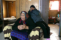 Elder Emelda Tomagatik at her children's home in Attawapiskat. Many older residents speak only Swampy Cree. <br /> <br /> (Ian Stewart photo)