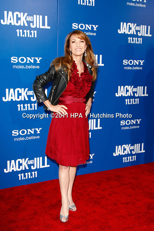 LOS ANGELES - NOV 6:  Jane Seymour arrives at the Jack and Jill Premiere at Regency Village Theatre on November 6, 2011 in Westwood, CA