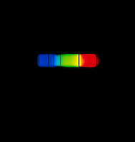 SPECTRUM ANALYSIS OF HELIUM:Helium Absorption Spectrum<br /> Viewed with a direct reading diffraction spectrometer. Without nanometer scale