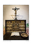 Crucifix and desk, San Diego de Acalá by Larry Angier.