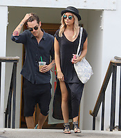 Ashley Tisdale and Husband Shopping in Beverly Hills