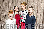 At the Fashion Show in aid of Aughacasla School on Friday at the Rose Hotel. Pictured Young Models Lauren Crean, Molly O'Donoghue, Grainne O'Dwyer, Maeve Slattery