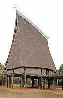 Bahnar Communal House, Vietnamese Museum of Ethnology, Hanoi