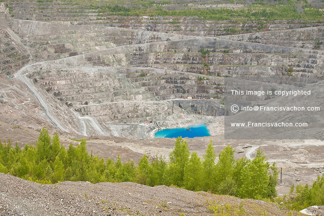 Open Pit Mining Canada Asbestos Mine Open Pit is