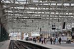 Interior of Glasgow Central Railway Station, Scotland