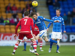 St Johnstone v Aberdeen&hellip;22.04.16  McDiarmid Park, Perth<br />Murray Davidson and Kenny McLean<br />Picture by Graeme Hart.<br />Copyright Perthshire Picture Agency<br />Tel: 01738 623350  Mobile: 07990 594431