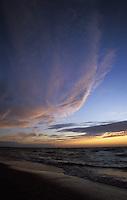 Sunset on Lake Huron at Dunes Beach Pinery Provincial Park Ontario