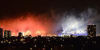 Olympia 2012 London  Eroeffnungsfeier 27.07.2012 Feuerwerk im Londoner East End rund ums Olympiastadion