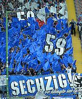 Fussball 2. Bundesliga:  Saison   2012/2013,    3. Spieltag  1. FC Kaiserslautern - TSV 1860 Muenchen   26.08.2012  1860 Muenchen Fankurve