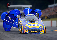 Oct 1, 2016; Mohnton, PA, USA; NHRA funny car driver Ron Capps during qualifying for the Dodge Nationals at Maple Grove Raceway. Mandatory Credit: Mark J. Rebilas-USA TODAY Sports