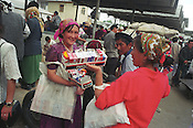 Women selling cigarettes in the Jayma bazaar in the city of Osh. The city was once one fo the great cities of the Silk Road and of Central Asia, and is the second biggest city in the country, situated in the unstable Ferghana valley which is now becoming a hotbed if Islamic Fundamentalism. Osh, Kyrgyzstan.