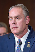 United States Representative Ryan Zinke (Republican of Montana) testifies before the US Senate Committee on Energy and Commerce as it holds a hearing considering confirmation of his appointment to be US Secretary of the Interior on Capitol Hill in Washington, DC on Tuesday, January 17, 2017.<br /> Credit: Ron Sachs / CNP