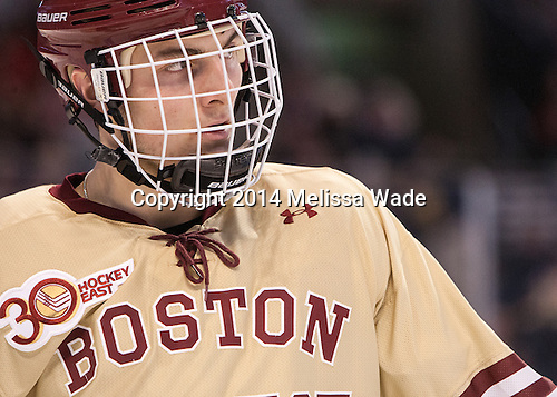 Chris Calnan (BC - 11) - The Boston College Eagles defeated the Northeastern University Huskies 4-1 (EN) on Monday, February 10, 2014, in the 2014 Beanpot Championship game at TD Garden in Boston, Massachusetts.