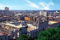 Old Havana Cuba Rooftops showing urban decay , Republic of Cuba,