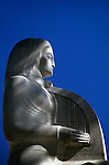 Sculpture in art deco fountain at entrance to the Hollywood Bowl