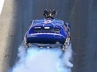 Jun 18, 2016; Bristol, TN, USA; NHRA pro mod driver Kenny Lang during qualifying for the Thunder Valley Nationals at Bristol Dragway. Mandatory Credit: Mark J. Rebilas-USA TODAY Sports