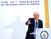 President-elect of The United States Donald J. Trump speaks to Republican leadership at Trump International Hotel in Washington, DC, January 19, 2017 the day before his swearing in as 45th President of The United States. <br /> Credit: Chris Kleponis / Pool via CNP