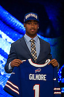 The tenth overall pick cornerback Stephon Gilmore (South Carolina) of the Buffalo Bills during the first round of the 2012 NFL Draft at Radio City Music Hall in New York, NY, on April 26, 2012.