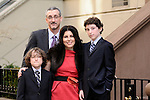 Justin on the Beema at Stephen Wise Synagogue in New York City, and in Central Park, with his family prior to his Bar Mitzvah.