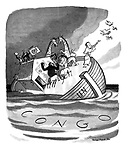 The UN Ark founders in the Congo flood.