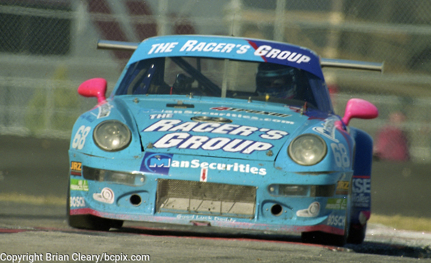 The #68 Porsche 911 Carerra RSR of Ron Herrerias, Michael Smith, Tom McGlynn, and Ludovico Manfredi races to a 42nd place finish in the Rolex 24 at Daytona, Daytona International Speedway, Daytona Beach, FL, February 2000.  (Photo by Brian Cleary/www.bcpix.com)