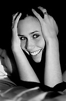 Portrait of a young woman in her early twenties (Belgium, 01/11/2003)