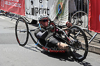 One of the competitors during the Abergavenny Festival of Cycling &quot;Para Grand Prix of Wales&quot; race on Sunday 17th 2016<br /> <br /> <br /> Jeff Thomas Photography -  www.jaypics.photoshelter.com - <br /> e-mail swansea1001@hotmail.co.uk -<br /> Mob: 07837 386244 -