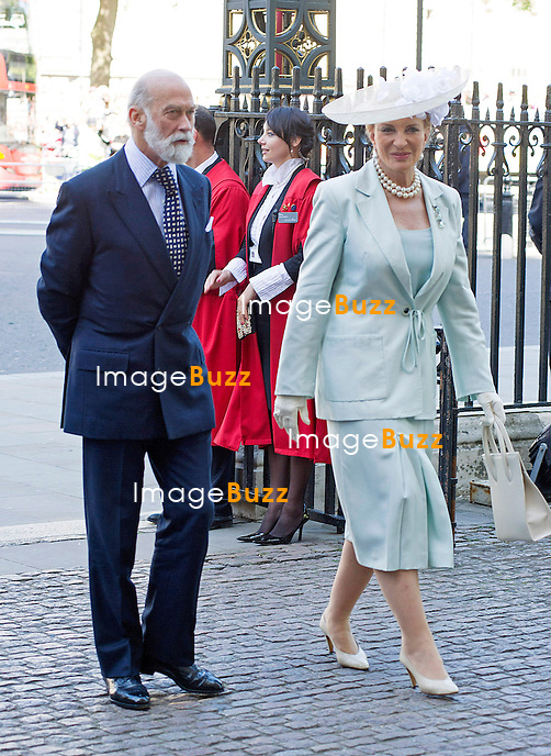 PRINCE AND PRINCESS MICHAEL OF KENT<br /> joined The Queen and other members of the Royal Family for  A Service to Celebrate the 60th Anniversary of the Coronation Service at Westminster Abbey, London_04/06/2013<br /> Members of the Royal Family attending the Service included The Prince of Wales and The Duchess of Cornwall, The Duke and Duchess of Cambridge, Prince Henry of Wales, The Duke of York and Princesses Beatrice and Eugenie, The Earl and Countess of Wessex and The Lady Louise Mountbatten-Windsor, The Princess Royal, Vice Admiral Sir Tim Laurence, Peter Phillips and Autumn (Kelly) Phillips, Zara (Phillips) Tindall and Mike Tindall, The Duke and Duchess of Gloucester, The Duke and Duchess of Kent, Prince and Princess Michael of Kent