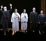 Tom Nelis, Adina Verson, Katrina Lenk, Richard Topal, Steven Rattazzi during the Broadway Opening Night Performance Curtain Call Bows for  'Indecent' at The Cort Theatre on April 18, 2017 in New York City.
