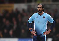 Blackpool's Nathan Delfouneso<br /> <br /> Photographer Kevin Barnes/CameraSport<br /> <br /> The EFL Sky Bet League Two - Saturday 18th March 2017 - Newport County v Blackpool - Rodney Parade - Newport<br /> <br /> World Copyright &copy; 2017 CameraSport. All rights reserved. 43 Linden Ave. Countesthorpe. Leicester. England. LE8 5PG - Tel: +44 (0) 116 277 4147 - admin@camerasport.com - www.camerasport.com