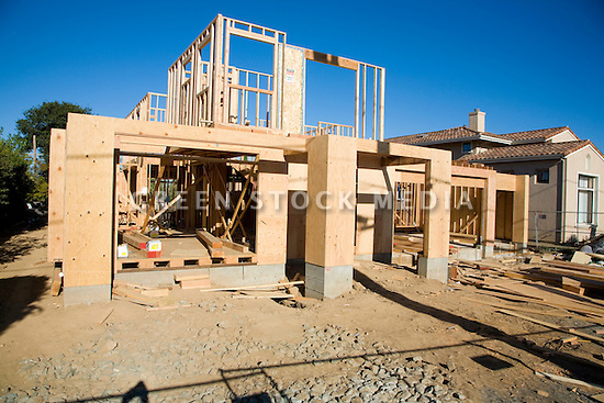 Wooden Two Story House on Two Story House Construction