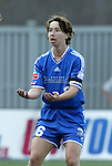 13 July 2003: Maren Meinert complains about a call. The Boston Breakers defeated the Philadelphia Charge 3-1 at Boston University's Nickerson Field in Boston, MA in a regular season WUSA game.