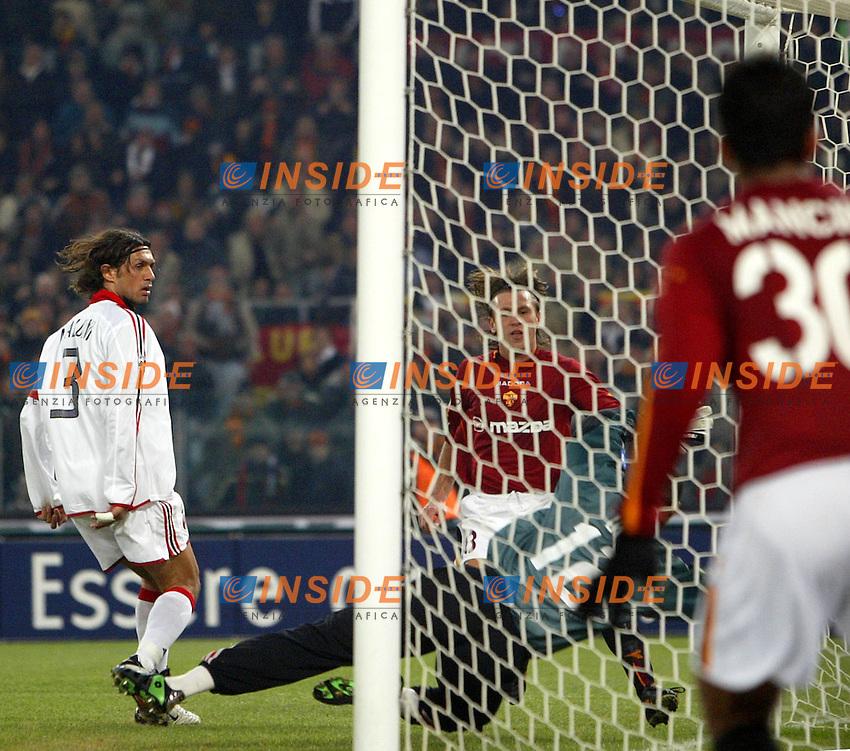 Roma 6/1/2004 Roma - Milan 1-2<br /> Antonio Cassano (Roma) segna il gol del momentaneo pareggio<br /> Antonio Cassano (Roma) scores goal of 1-1<br /> Photo Andrea Staccioli / Insidefoto