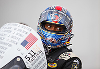 Apr 22, 2017; Baytown, TX, USA; NHRA top fuel driver Antron Brown during qualifying for the Springnationals at Royal Purple Raceway. Mandatory Credit: Mark J. Rebilas-USA TODAY Sports